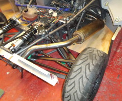 Silencer in place